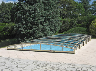 Zwembadoverkapping Viva   Met één rail