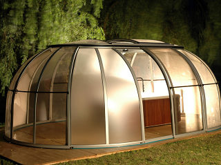 Telescopische Spa overkapping SPA SUNHOUSE made by Axess