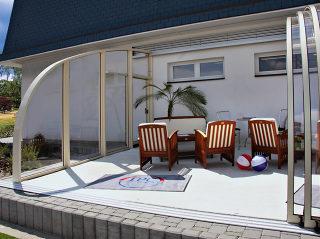 Zwembad overkapping CORSO Entry - in alle afmetingen verkrijgbaar voor meer comfort