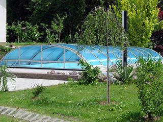 Zwembadoverkapping ELEGANT -de ideale protectie voor uw zwembad
