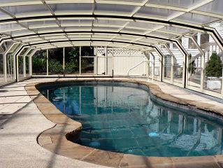 Zwembad overkapping OCEANIC -de oplossing voor een zwembad met onregelmatige vormen