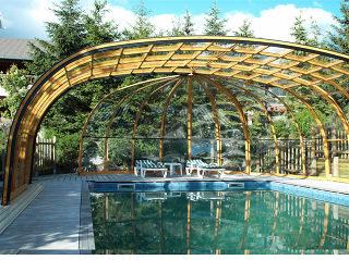 Telescopische Zwembad overkapping OLYMPIC by AXESS  de Poolcover bij uitstek