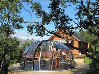 Zwembadoverkapping ORIENT ideaal als overkapping voor uw Spa of als tuin patio