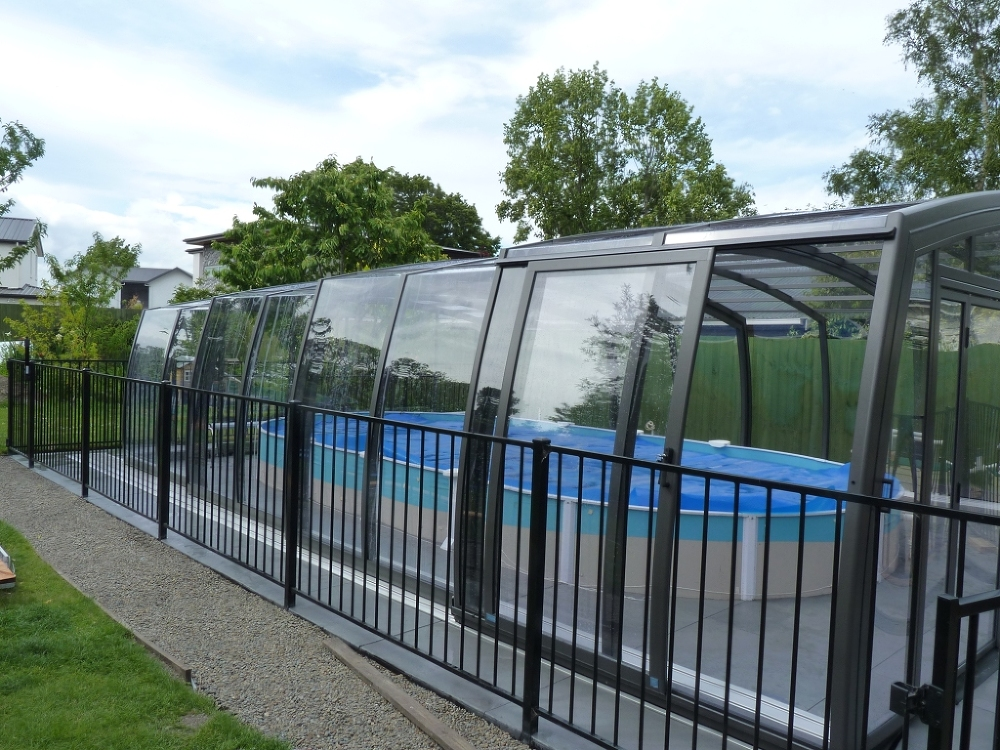 Pool enclosure Omega installed in Christchurch