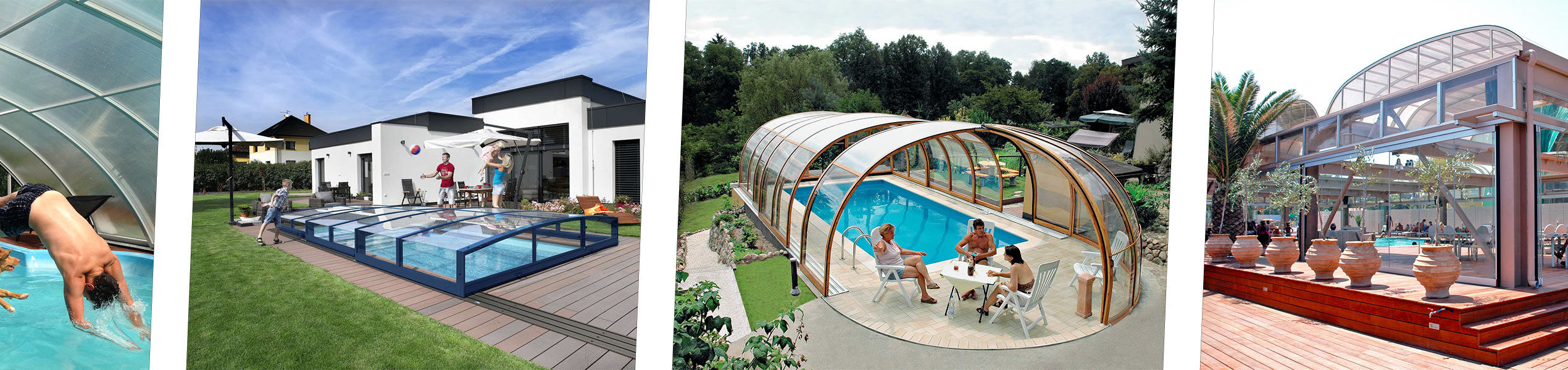 Photo gallery pool enclosure