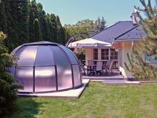 Closed hot tub enclosure spa dome Orlando