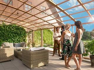 Enjoy pleasant moments under patio enclosure CORSO Premium