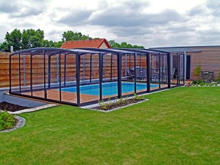 High line pool enclosure Vision in anthracite color