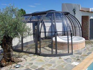 Hot tub enclosure OASIS - perfect enclosure for spa pool