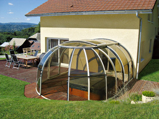 Hot tub enclosure OASIS is custom made to match your requirements