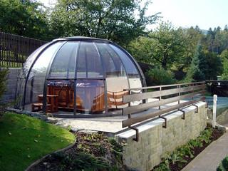 Hot tub enclosure SPA DOME ORLANDO with transparent polycarbonate filling