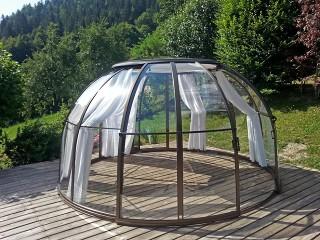 Hot tub enclosure SPA Dome Orlando with shading system
