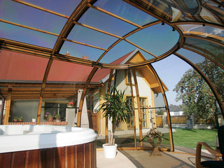 Spa pool enclosure SPA SUNHOUSE - look from inside the cover