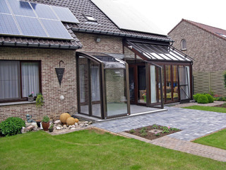Patio enclosure CORSO fits great to your house - as an alternative to classical conservatory