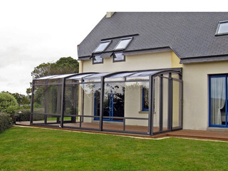 Patio enclosure CORSO Premium  with safety glass in front wall and polycarbonate in the roof