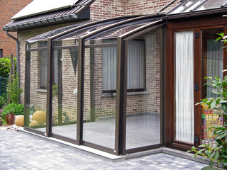 Innovative conservatory - retractable patio enclosure CORSO Premium