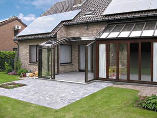 Retractable patio enclosure CORSO in atractive anthracite color