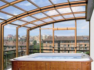 Retractable terrace enclosure CORSO