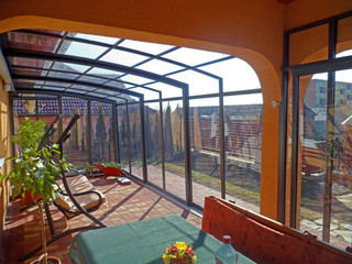 Terrace enclosure CORSO fits great to your house - dark color