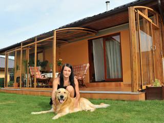 Terrace enclosure CORSO - wood-like finish