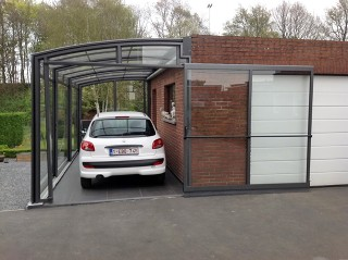 Patio enclosure Corso can be used as a carhouse