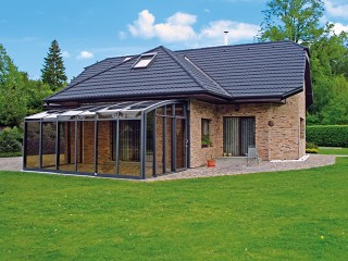 Patio enclosure CORSO Solid is beautiful addition for your garden