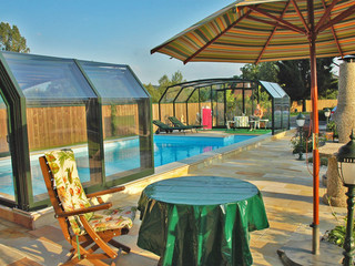 Pool enclosure OCEANIC suits for covering large pool