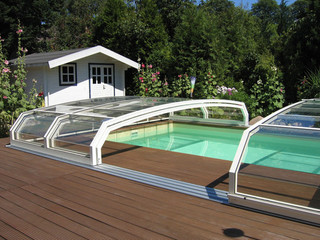 Inground pool cover OCEANIC - in favorite white color