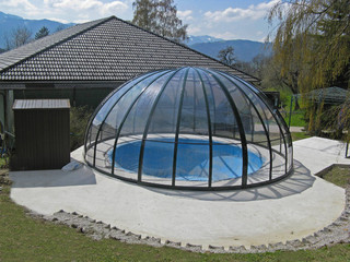 Pool enclosure for oval and round pools ORIENT