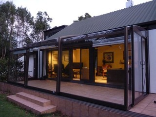 Retractable patio enclosure CORSO Solid - Upper Hutt