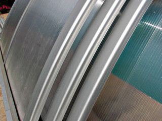 Detail on sliding segments of swimming pool enclosure UNIVERSE NEO