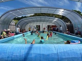 School pool in Wellington covered by LAGUNA NEO pool enclosure