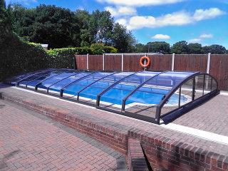 Swimming pool enclosure Imperia in anthracite