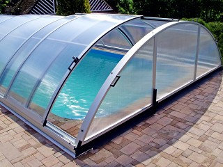 Swimming pool enclosure Universe - silver finish
