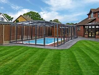 Swimming pool enclosure Venezia with anthracite finish