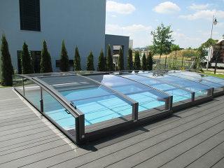 Swimming pool enclosure Viva in anthracite
