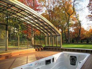 Unusual big patio enclosure CORSO Solid is no problem for us