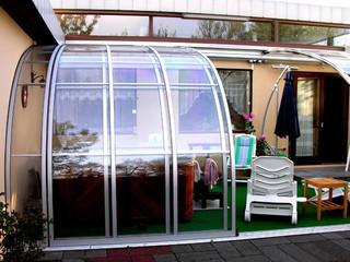 Zadaszenie patio CORSO Entry wykonane przez Alukov