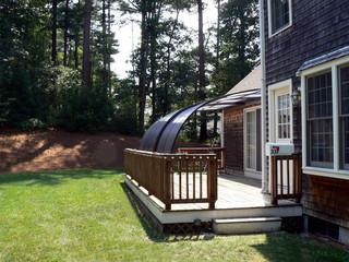 Widok z zewnątrz zadaszenia patio CORSO Entry - najlepszy pomysł oranżeryjny