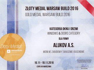 Przesuwna zabudowa tarasu CORSO zdobyła ZŁOTY MEDAL na targach Warsaw Build 2016