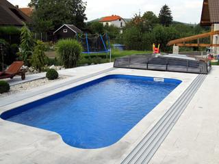 Zadaszenie basenowe CORONA - całkowicie otwarte