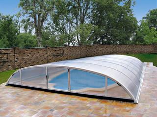 Niskie zadaszenie basenowe ELEGANT wykonane przez Alukov