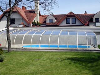 Widok z środka zadaszenia basenowego STYLE