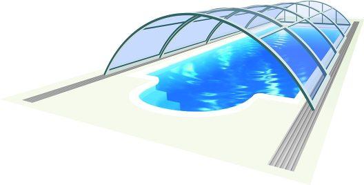 Acoperire  piscina Azure Uni
