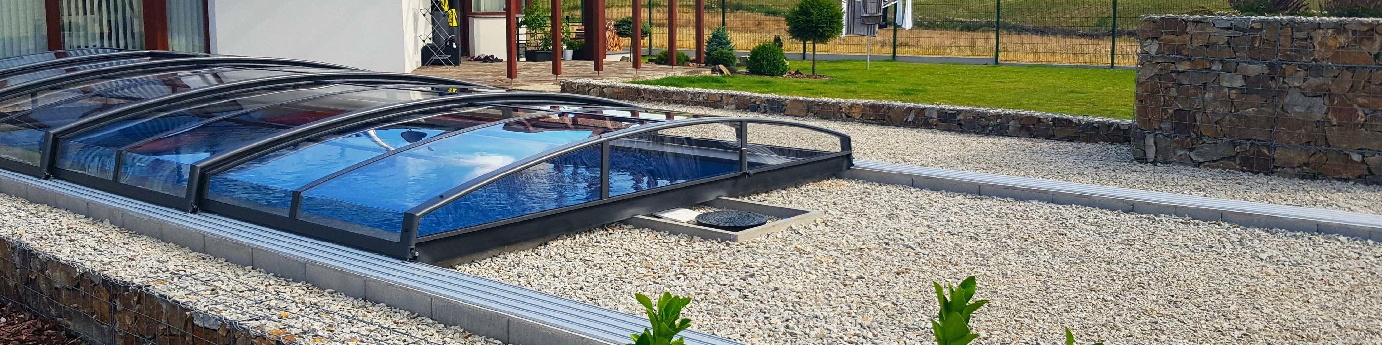 Acoperire piscina azure angle for Acoperiri piscine