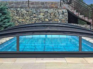 Acoperire piscina Azure Angle complet inchisa
