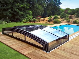 Acoperire piscina Azure Angle complet retractata