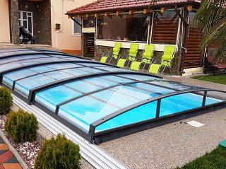 Acoperire piscina Azure Angle cu prelungire sina