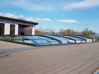 Acoperire piscina Azure Angle impact visual minim