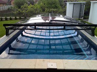 Acoperire piscina Azure Angle perete frontal rabatabil